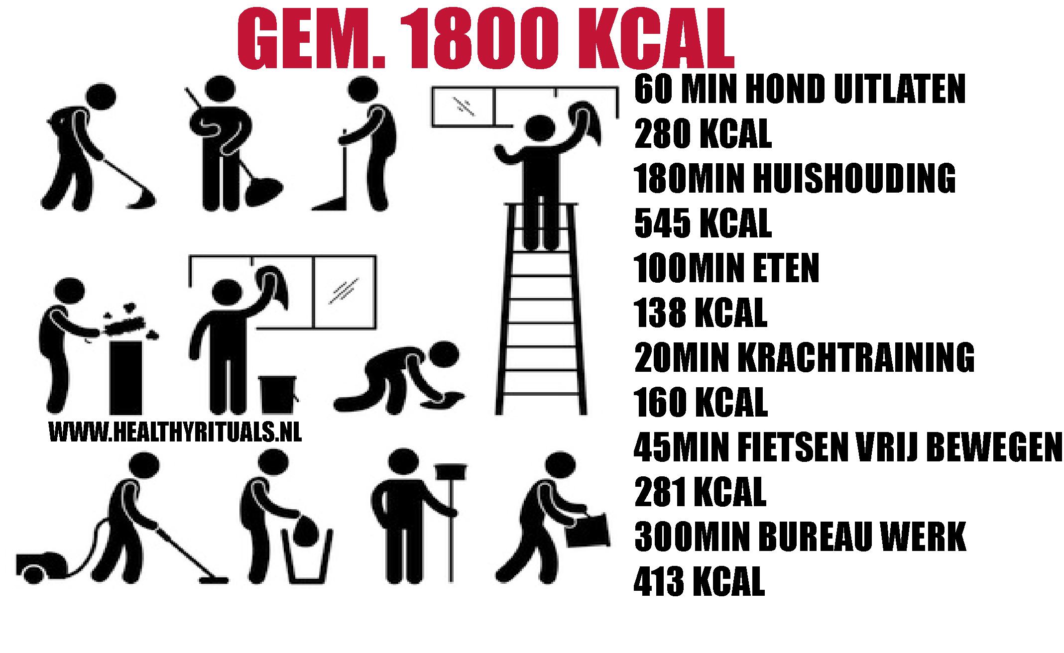gemiddelde calorieën per dag